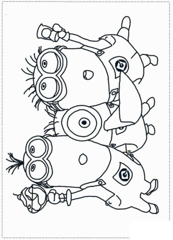 Kleurplaten Minions Winter.Kids N Fun Kleurplaat Minions Minions 15