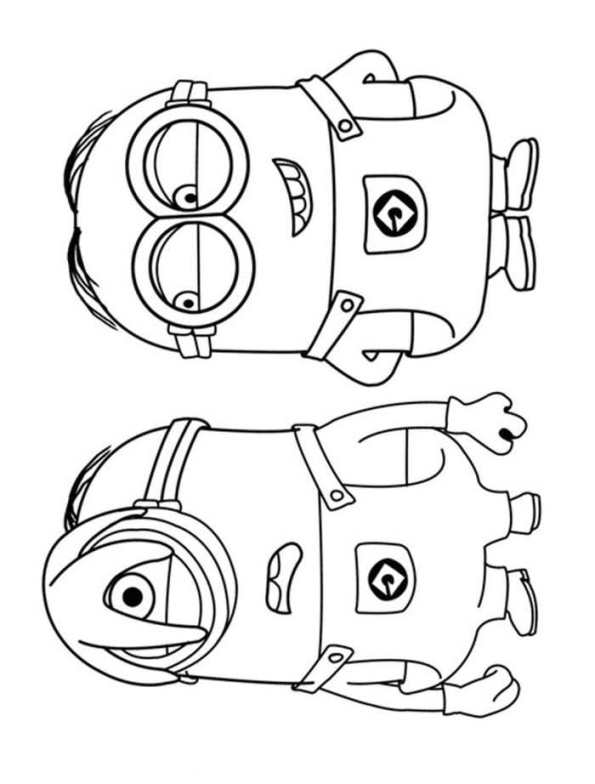 Kids N Fun Kleurplaat Minions Minions 32