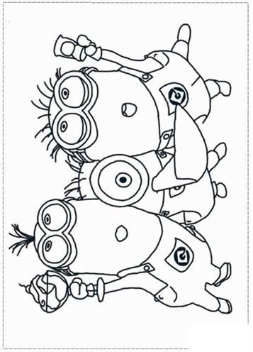 Kleurplaten Minions A4.Kids N Fun 36 Kleurplaten Van Minions