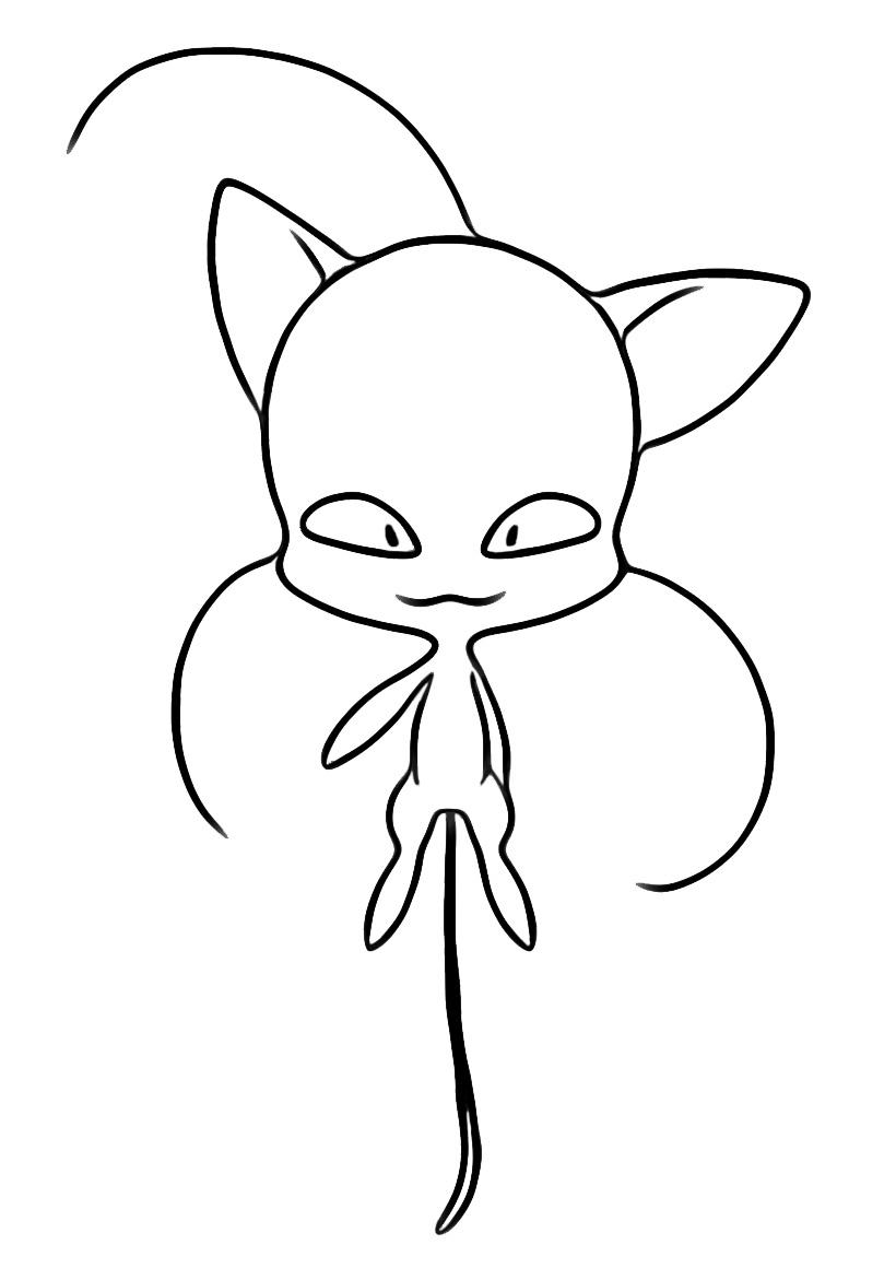 Kids N Fun Kleurplaat Miraculous Verhalen Van Ladybug En Cat Noir Plagg