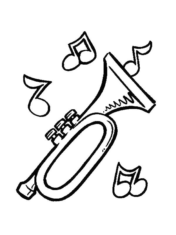 gratis kleurplaten muziekinstrumenten