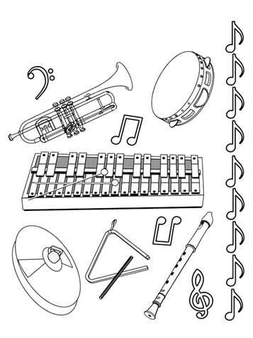 Kleurplaten Muziekinstrumenten Peuters.Kids N Fun 62 Kleurplaten Van Muziekinstrumenten
