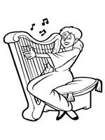 n 62 kleurplaten muziekinstrumenten