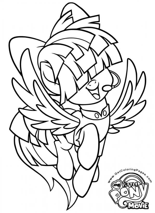 Kleurplaten My Little Pony Met Vleugels.Little Pony Kleurplaat