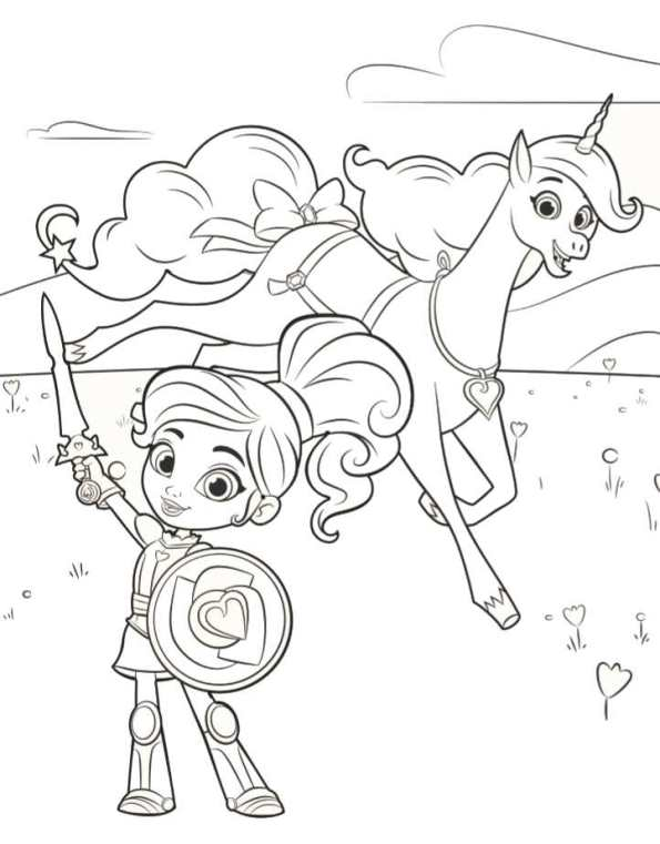 Kids N Fun 13 Kleurplaten Van Nella De Prinses Ridder