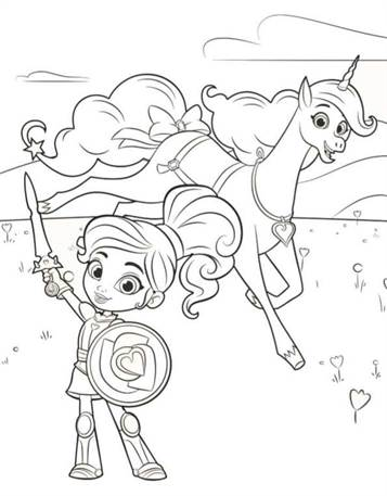 Kleurplaten Prinsessen En Ridders.Kids N Fun 13 Kleurplaten Van Nella De Prinses Ridder