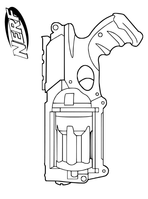 n kleurplaat nerf blasters nerf gun