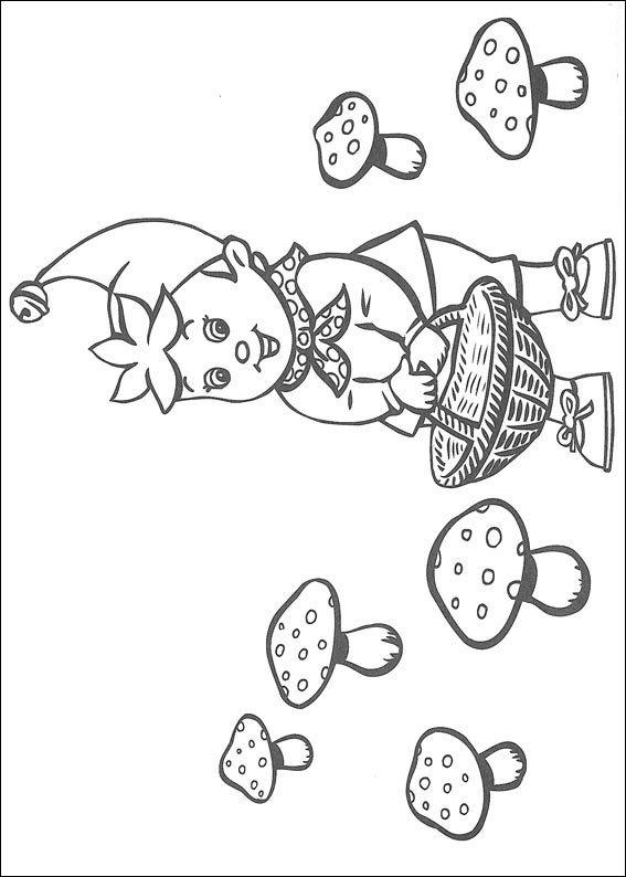 Kids N Fun Kleurplaat Noddy Noddy Zoekt Paddestoelen
