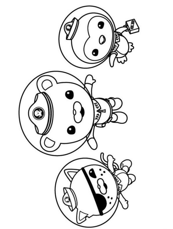 n kleurplaat octonauts octonauts