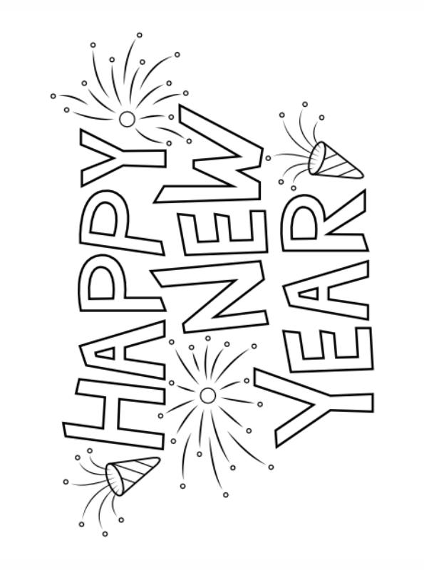 n kleurplaat oud en nieuw happy new year 2