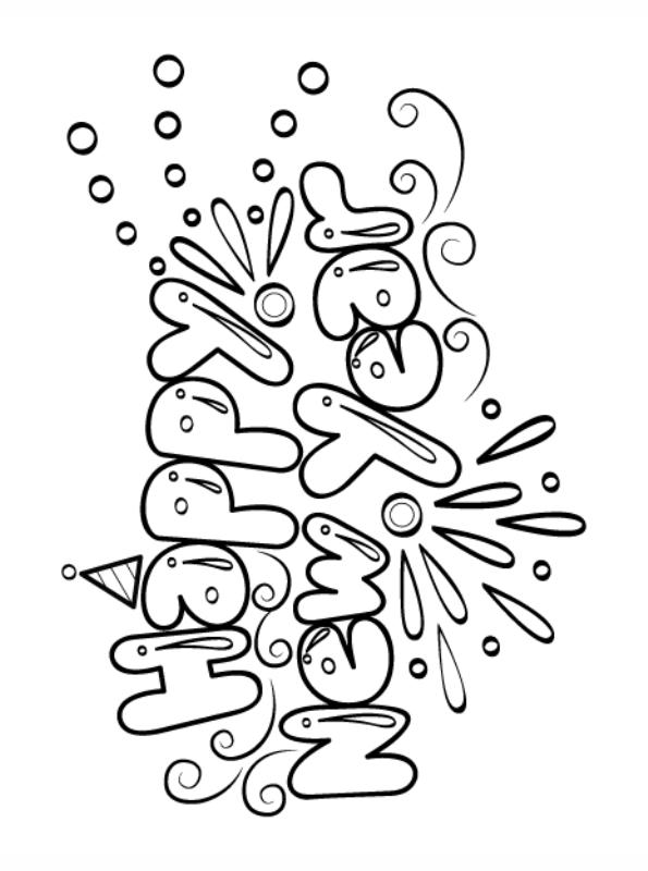 n kleurplaat oud en nieuw happy new year bubbles