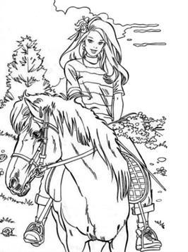 Kleurplaten Prinsessen Met Paard.Kids N Fun 63 Kleurplaten Van Paarden