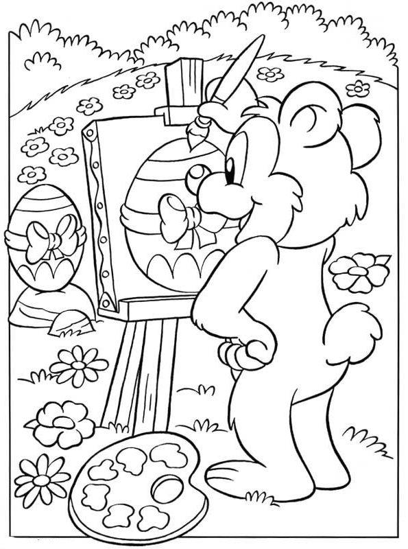 Paasklokken Kleurplaten Kids N Fun 25 Kleurplaten Van Pasen