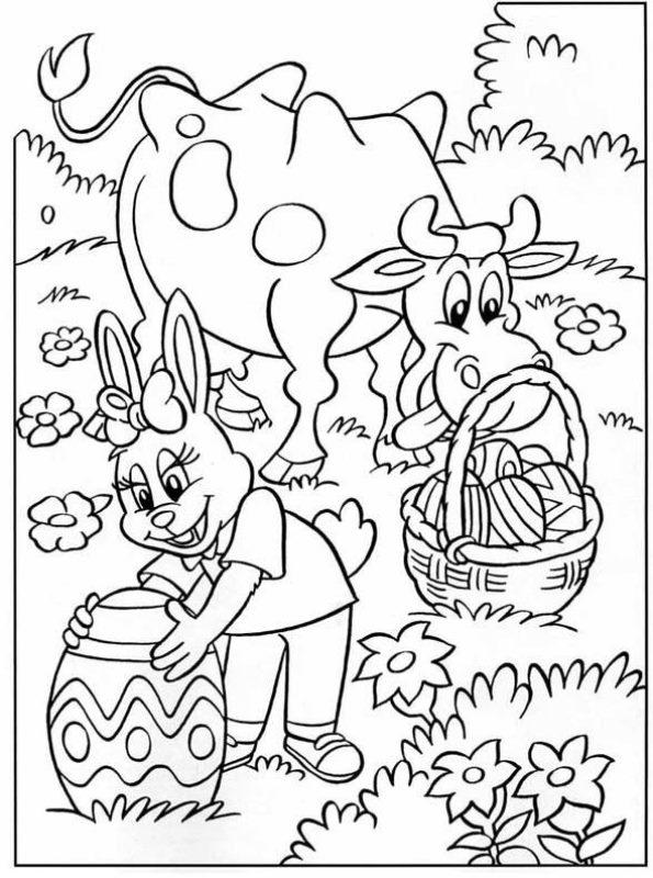 Afbeeldingen Kleurplaten Bloemen Kids N Fun 25 Kleurplaten Van Pasen