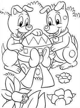 Kleurplaten Pasen Kip.Kids N Fun 78 Kleurplaten Van Pasen