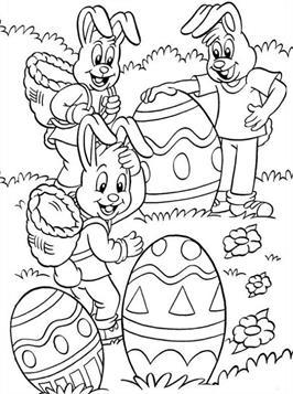 Kleurplaten Pasen Haas.Kids N Fun 78 Kleurplaten Van Pasen