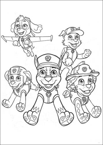Kleurplaten Paw Patrol Everest.Kids N Fun 23 Kleurplaten Van Paw Patrol