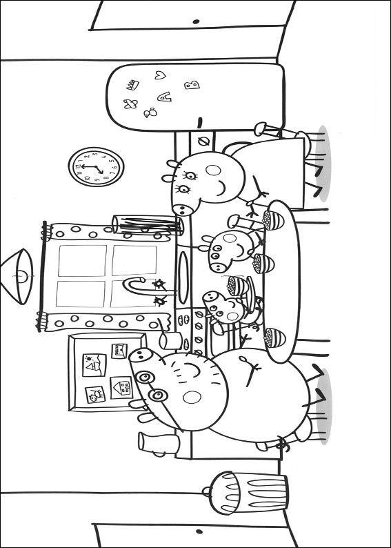 Kids N Fun Kleurplaat Peppa De Big Peppa Pig En Familie