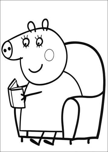 Kleurplaten Peppa Pig.Kids N Fun 20 Kleurplaten Van Peppa De Big