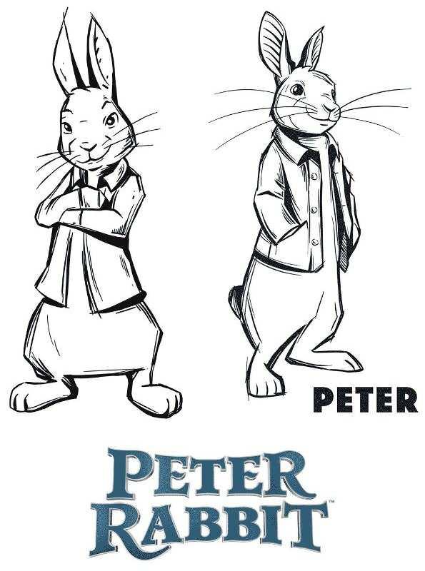 Kids N Fun Kleurplaat Pieter Konijn Of Peter Rabbit 2018 Peter