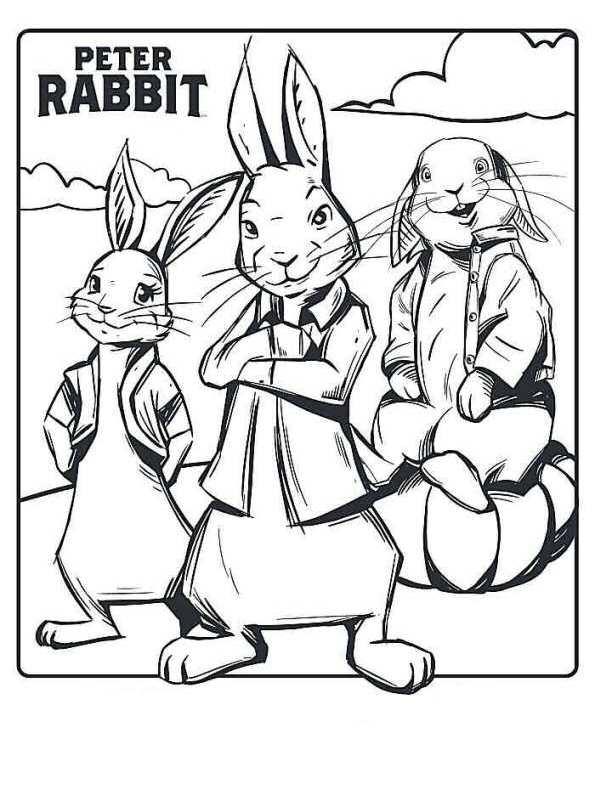 Konijn Kleurplaat Peter Rabbit Archidev