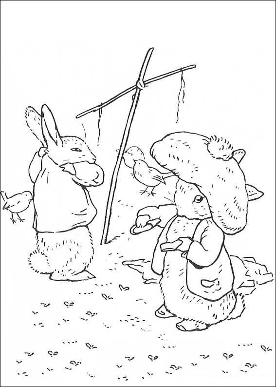 n kleurplaat pieter konijn pieter konijn