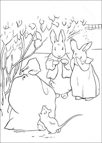 Kleurplaten Konijnen Printen.Kids N Fun 29 Kleurplaten Van Pieter Konijn