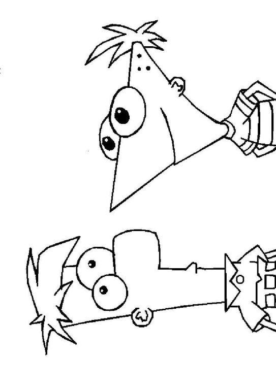 Kleurplaat Vogelbekdier Phineas And Ferb - Inkleuren - kleurplatenl.com