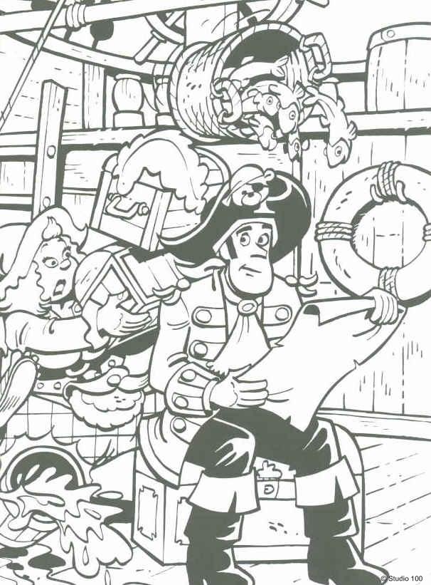Kids N Fun Kleurplaat Piet Piraat Piet Piraat