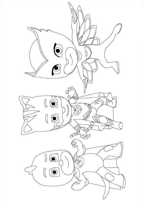 Kids N Fun 20 Kleurplaten Van Pj Masks