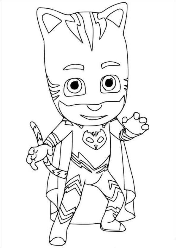 Kidsnfun Kleurplaat PJ Masks yoyo 2
