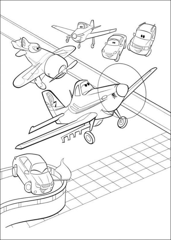Kleurplaten Planes Archidev
