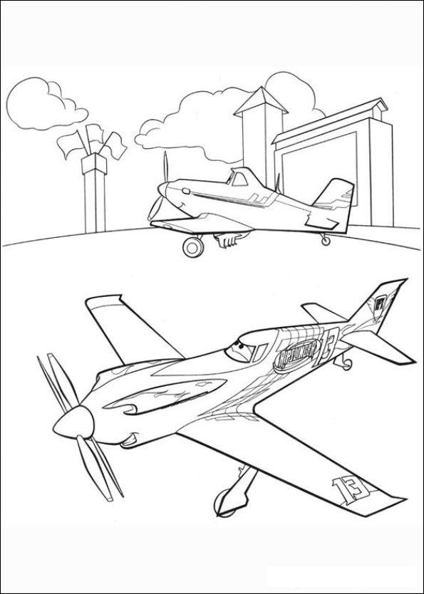 Kids n fun 33 kleurplaten van planes - Planes coloriage ...