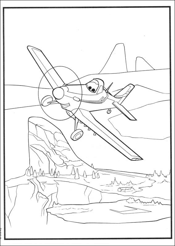 Kidsnfun 33 Kleurplaten van Planes