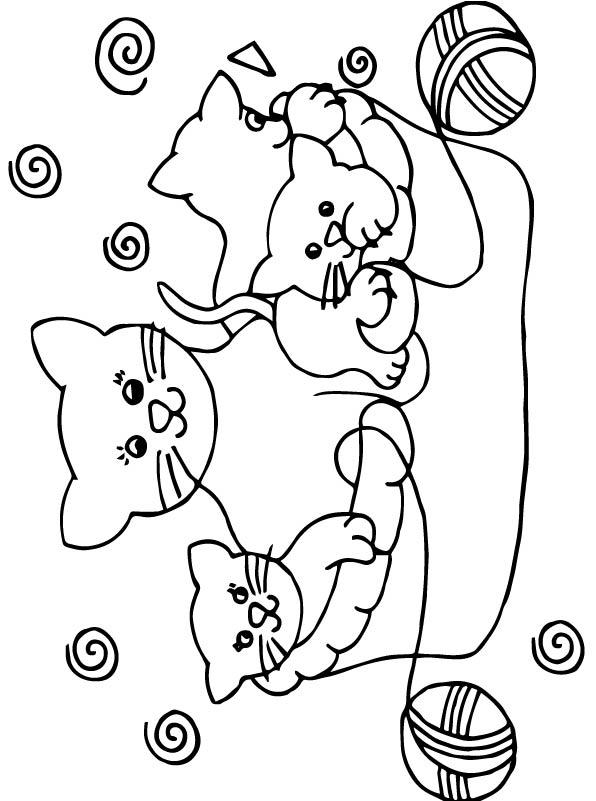 n 68 kleurplaten poezen en katten