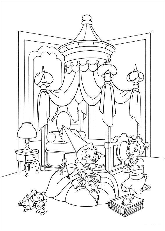 kleurplaten prinses en de kikker