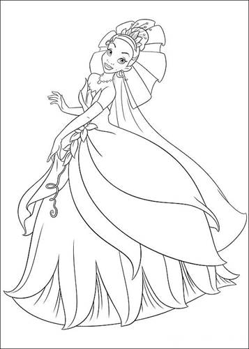 Kleurplaten Prinses Tiana.Kids N Fun 37 Kleurplaten Van Prinses En De Kikker