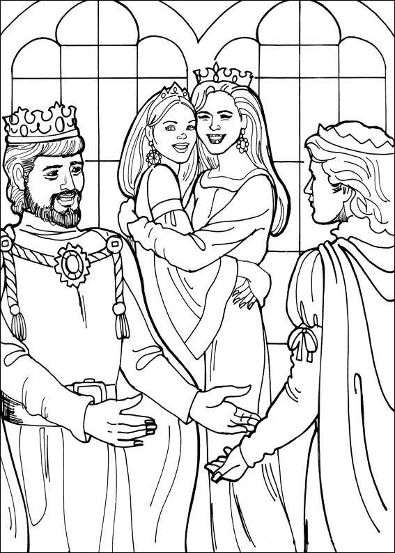 Kleurplaat Kasteel Met Prinses Kids N Fun 26 Kleurplaten Van Prinses Leonora