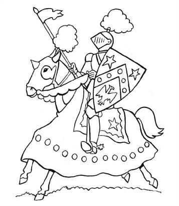 Gratis Kleurplaten Middeleeuwen.Kids N Fun 56 Kleurplaten Van Ridders