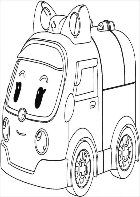 Kids n fun kleurplaat robocar poli amber - Dessin robocar poli ...
