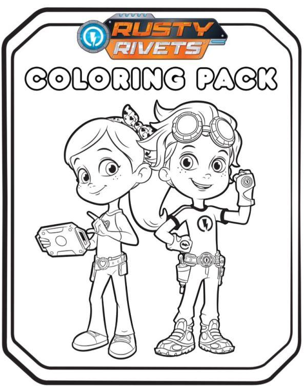 Kids n fun nieuwe kleurplaten for Rusty rivets coloring pages