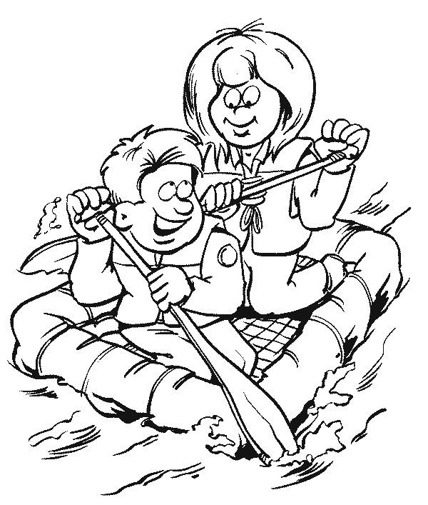 Scouting Kleurplaat Kids N Fun 19 Kleurplaten Van Scouting