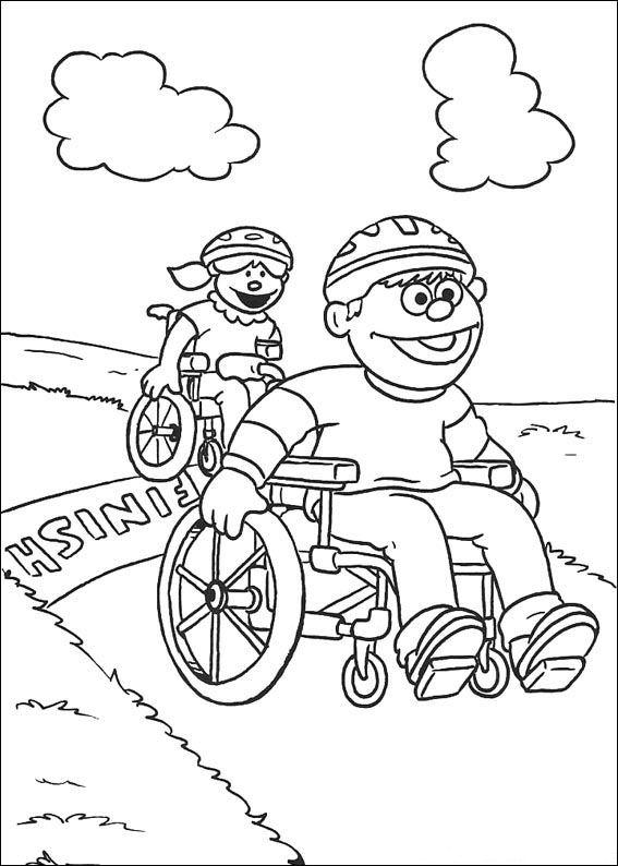 Ome Opa Kleurplaat Kids N Fun 17 Kleurplaten Van Sesamstraat Sport