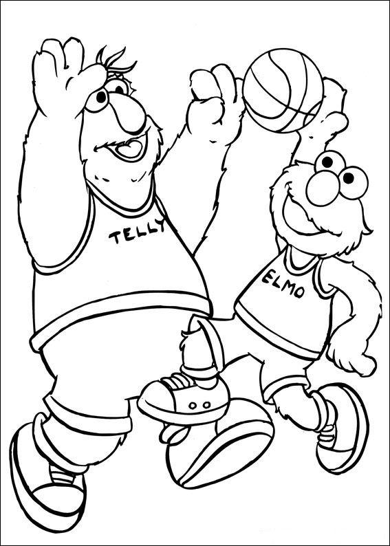 Kleurplaat Frozen Kerst Kids N Fun Kleurplaat Sesamstraat Sport Basketbal