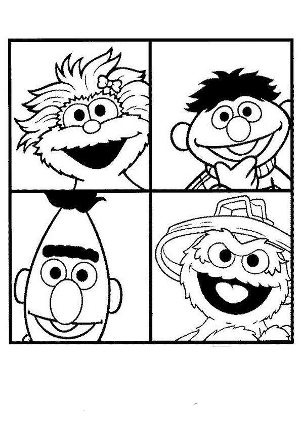 Kleurplaten Radip Kids N Fun 53 Kleurplaten Van Sesamstraat