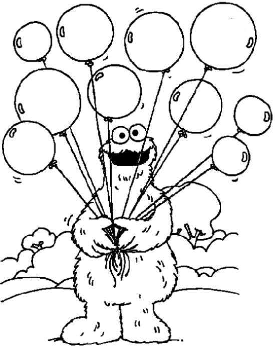 Kids-n-fun  Kleurplaat Sesamstraat Koekiemonster met ...
