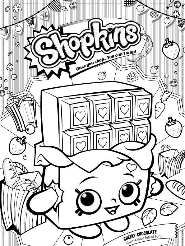Kids N Fun Kleurplaat Shopkins Cheeky Chocolate