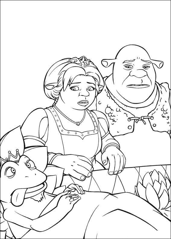 Kleurplaten Kikkerkoning.Kids N Fun Kleurplaat Shrek De Derde Shrek 3 De Kikkerkoning Sterft