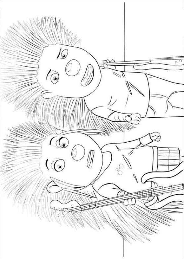 Kids N Fun Kleurplaat Sing Sing