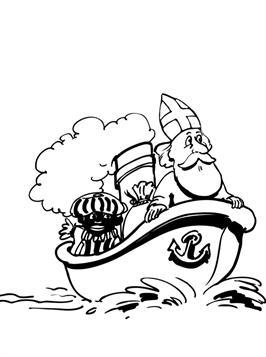 Gratis Kleurplaten Sinterklaas Stoomboot.Kids N Fun 38 Kleurplaten Van Sinterklaas